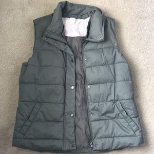 H&M olive green puff vest